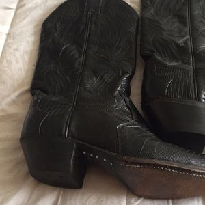 Justin Vintage Snakeskin Womans Cowboy Boots!